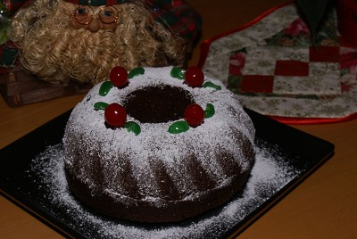 Bundt Cake de Cerezas y Nueces